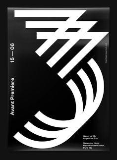 Video - 3, logo design and promotional poster, by Studio Jimbo for De Paris Yearbook. Paris, 2016.