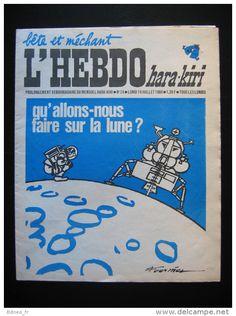 No PAYPAL !! : Hara-Kiri Charlie Hebdo 24 FOURNIER Art Cover Lune + Reiser Cabu Wolinski Willem,Etc...1969 TTBE/NEUF - Delcampe.net
