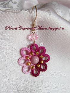 Piccoli Capricci: Orecchini in Rosa ed Amaranto