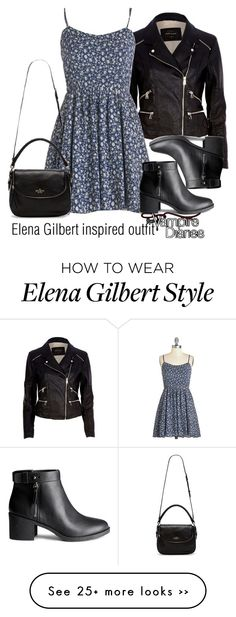 """Elena Gilbert inspired outfit/TVD"" - Not a fab of the show, but leather jackets are my babes ~ Ruby Mode Outfits, Fall Outfits, Summer Outfits, Casual Outfits, Teen Fashion, Fashion Outfits, Womens Fashion, Vampire Diaries Outfits, Daniel Gillies"