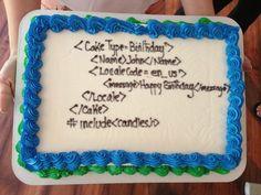 Awesome geek birthday cake.