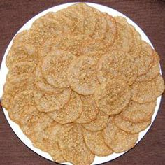 Benne Wafers.  I've only ever had them in Charleston, SC. Simple quarter-sized sweet sesame seed crispy cookies.  They are addictive.