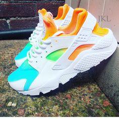 b4bbef305a4 Summer Edition Tie Dye Neon Nike Air Huarache Tie Dye Huarache Unisex... (