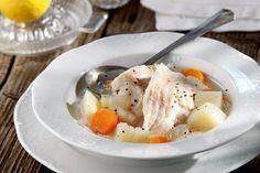 ΔιαδικασίαΣε μια μεγάλη κατσαρόλα βάζουμε τις πατάτες, τα κρεμμύδια και τα καρότα, προσθέτουμε τόσο νερό όσο να υπερκαλύπτονται τα λαχανικά κατά 3 - 4 εκ. και τα...