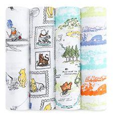 Aden + Anais Disney Winnie the Pooh 4 pack Swaddle. aden + anais Disney Baby Baby Essentials from Mummy and Little Me Winnie The Pooh Nursery, Disney Winnie The Pooh, Disney Nursery, Winnie The Pooh Blanket, Bear Nursery, Girl Nursery, Muslin Blankets, Muslin Swaddle Blanket, Swaddling Blankets