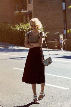 Skirt with suspender straps