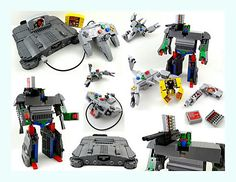 """Created specifically for the Toy Brick Contest in the summer of 2013, I present to you my latest LEGOformers: Ultra Hexacon and Tetragon, the transforming Nintendo 64 and controller, along with their transforming game pak minions Hot-Shot, and Mecha Kong! These original LEGO models are made in near-perfect size and proportions to authentic N64 components, and can transform completely — by """"transform completely"""", I mean each robot can transform from N64 accessory to robot and back without…"""