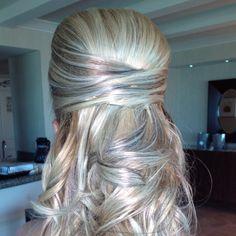 Las Vegas Wedding Hair- Half Up, Half Down by Amelia C & Co