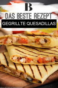 Crispy dough and melted cheese: simply tortilla . Crispy dough and melted cheese: simply tortilla … - Quesadilla Recipes, Sandwich Recipes, Pizza Recipes, Dinner Recipes, Sandwiches For Lunch, Turkey Sandwiches, Panini Sandwiches, Breakfast Sandwiches, Pork Chop Recipes