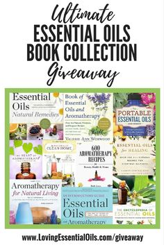 Ultimate Essential Oil Book Collection Giveaway - one lucky winner will receive 10 popular essential oils reference guides and recipe books!