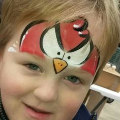 Angry bird facepaint idea - Hire a facepainter to transform your guests into…