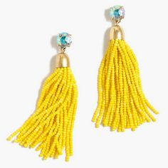 drop big long Tassel bead Earrings handmade seed bead tassel dangle earring