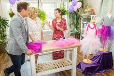 Orly Shani transforms a simple t-shirt into a beautiful baby princess dress.