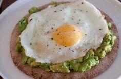 Avocado and Fried Egg Breakfast Pita Recipes. #Recipes