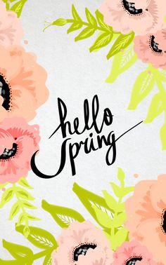 hello spring tumblr iphone wallpaper - Google Search