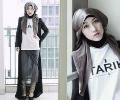 Hana Tajima - street hijab style