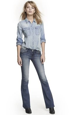 LOW RISE SLIM FLARE JEAN | Express