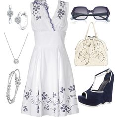 Navy & White, created by rebecca-horn on Polyvore