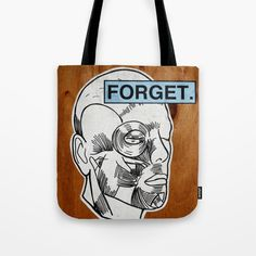 Tote bag - forget head sticker on wall photograph. G Man, Shopping Bag, Graffiti, Forget, Photograph, Sticker, Reusable Tote Bags, Wall, Stuff To Buy