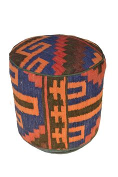 Rug Pouf / Rug Sitting Stool / Rug Ottoman / Kilim Sitting Stool / Stools # 54