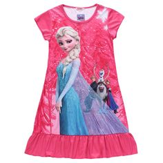 Anna Elsa Dress Children Clothing Summer Dresses Girls Baby Pajamas Costume Princess Nightgown Vestidos Infantis Clothes #>=#>=#>=#>=#> Click on the pin to check out discount price, color, size, shipping, etc. Save and like it!