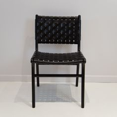 Leather Weave Dining Chair (Black on Black) Woven Dining Chairs, Dining Room, Leather Weaving, Teak Wood, Weave, Furniture, Black, Home Decor, Decoration Home
