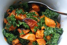 Energize and CleanseBrighten your day with a colorful meal of sweet potatoes with kale and ginger. This light yet satisfying dish energizes & cleanses while it nourishes. You'll feel healthy and vibrant all week long.  As spring warms up, your body enters a natural detox cycle. As your body starts to cleanse, you'll crave crunchy, refreshing foods like kale, celery, and raw...