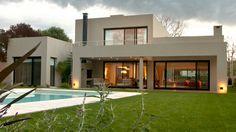 Un-casa-para-disfrutar My House Plans, Mountain View, Modern House Design, Sweet Home, Villa, Loft, Patio, Mansions, House Styles
