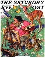 Artist and Animals J.C. Leyendecker May 26, 1934