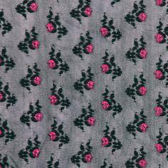 Black/Pink Floral Lace