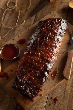Buy Homemade Smoked Barbecue Pork Ribs by on PhotoDune. Homemade Smoked Barbecue Pork Ribs Ready to Eat Barbecue Pork Ribs, Pork Brisket, Barbecue Recipes, Grilling Recipes, Smoker Recipes, Pork Loin, Venison, Rub Recipes, Meat Recipes