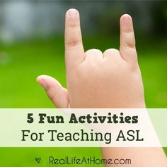 American Sign Language (ASL) can be a natural extension to your homeschool lesson planning, field trips and even reading stories together. Sign Language Games, Sign Language For Kids, Sign Language Phrases, Sign Language Interpreter, British Sign Language, Learn Sign Language, Language Activities, Fun Activities, Foreign Language