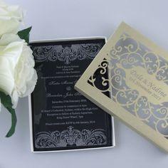 An Elegant Acrylic Invitation Acrylic Plastic Clear Wedding Invite