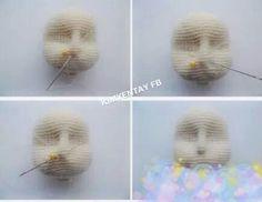 Cómo hacer rasgos en la cara amigurumi 4