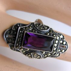 Vintage Sterling Silver Art Deco Ring by nanascottagehouse on Etsy, $145.00