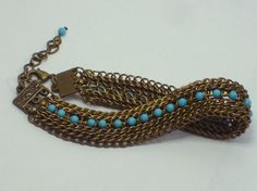 Antiqued brass Half Persian 31 Sheet bracelet with by #BeadMaille #chainmaille