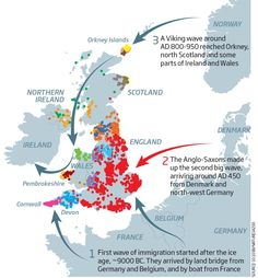 Ancient invaders transformed Britain, but not its DNA - Geschicke und Geschichte - History Facts Dna History, History Facts, Ancient History, Family History, Anglo Saxon History, European History, British History, Map Of Britain, Dna Genealogy