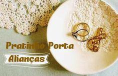 Esse é especial para as noivinha smais arteiras: Bowl de Argila Branca, pra levar as alianças até o altar com exclusividade, com uma p...