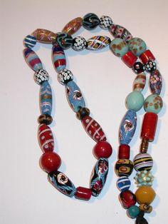 Antique Venetian Beads, 1880-1900.