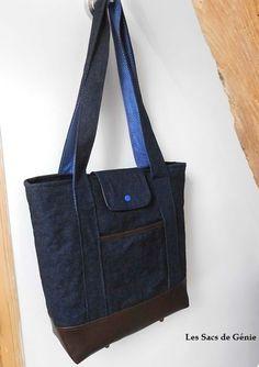 Sac cabas en jean / Tote bag in denim by Sacs de Génie