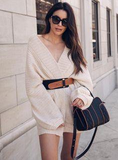Kazak Elbise Nasıl Giyilir ? - Trendler ve Moda Glamour, Plaid, Street Style, Tops, Sweaters, Dresses, Fashion, Knitting Sweaters, Luxury