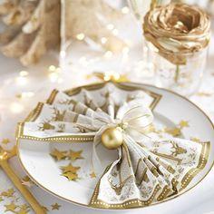 Tovaglioli Natale oro e bianco http://www.palaparty.com/258-natale-oro-e-renne