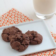 Chewy Chocolate Strawberry Cookies--Kind of like chocolate covered strawberries. Except not.