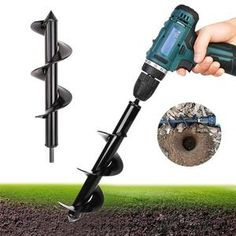 UltraGarden™ - Spiral Drill Bit – saturnprimeco Garden Trowel, Garden Tools, When To Plant Vegetables, Digging Holes, Charleston Homes, Replant, Planting Bulbs, Types Of Soil, Drill