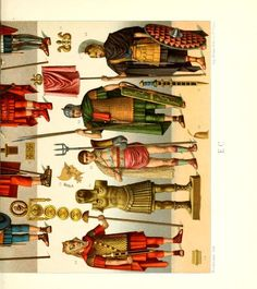 University Of Pittsburgh, German Language, Historical Costume, Paper Dolls, Character Inspiration, Military, Costumes, Illustration, Romans