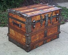 426 Roll Top Restored Antique Trunk w Working by ThePiratesLair, $595.00