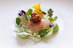 A summery throwback: Langoustine avocado cucumber & fresh North Sea crab by…