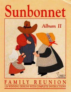 Sunbonnet Family Reunion Album II Applique Quilt Book 126 Patterns | eBay