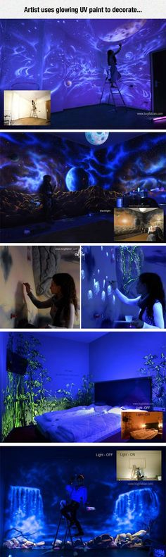 UV Wall Murals | An Amazing Glow in the Dark Decoration