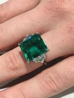 I Love Jewelry Natural Carat GIA Cert Colombian Emerald Platinum Ring - I Love Jewelry, Jewelry Gifts, Fine Jewelry, Craft Jewelry, Jewelry Accessories, Handmade Jewelry, Emerald Jewelry, Crystal Jewelry, Emerald Rings